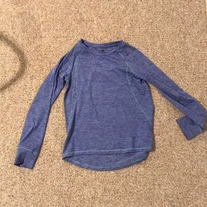 Girl's Champion long sleeved Athletic Shirt Size M